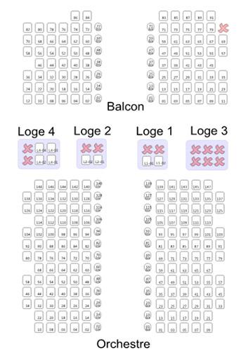 Plan de salle du Théâtre des 2 Ânes